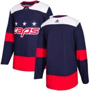 Wholesale Cheap Adidas Capitals Blank Navy Authentic 2018 Stadium Series Stitched NHL Jersey