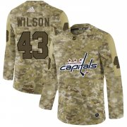 Wholesale Cheap Adidas Capitals #43 Tom Wilson Camo Authentic Stitched NHL Jersey