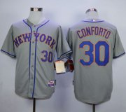 Wholesale Cheap Mets #30 Michael Conforto Grey Road Cool Base Stitched MLB Jersey