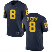 Wholesale Cheap Men's Michigan Wolverines #8 John O'Korn Navy Blue Stitched College Football Brand Jordan NCAA Jersey