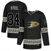 Wholesale Cheap Adidas Ducks #34 Sam Steel Black Authentic Team Logo Fashion Stitched NHL Jersey