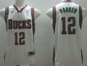 Wholesale Cheap Milwaukee Bucks #12 Jabari Parker Revolution 30 Swingman White Jersey