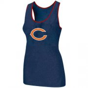 Wholesale Cheap Women's Nike Chicago Bears Big Logo Tri-Blend Racerback Stretch Tank Top Blue