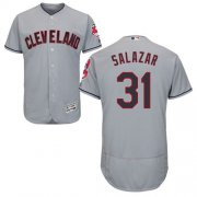 Wholesale Cheap Indians #31 Danny Salazar Grey Flexbase Authentic Collection Stitched MLB Jersey