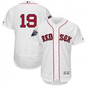 Wholesale Cheap Boston Red Sox #19 Jackie Bradley Jr. Majestic 2018 World Series Flex Base Player Jersey White