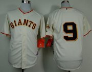 Wholesale Cheap Giants #9 Brandon Belt Cream Cool Base Stitched MLB Jersey
