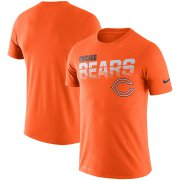 Wholesale Cheap Chicago Bears Nike Sideline Line of Scrimmage Legend Performance T-Shirt Orange