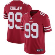 Wholesale Cheap Nike 49ers #99 Javon Kinlaw Red Team Color Men's Stitched NFL Vapor Untouchable Limited Jersey
