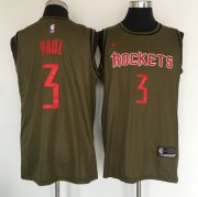 Wholesale Cheap Houston Rockets #3 Chris Paul Olive Nike Swingman Jersey