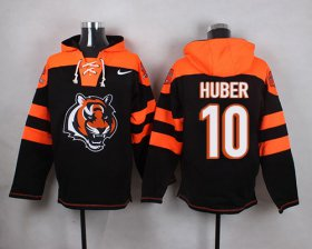 Wholesale Cheap Nike Bengals #10 Kevin Huber Black Player Pullover NFL Hoodie