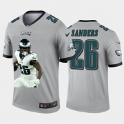 Cheap Philadelphia Eagles #26 Miles Sanders Nike Team Hero 2 Vapor Limited NFL Jersey Grey