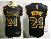 Cheap Los Angeles Lakers #24 Kobe Bryant Black Toddlers Jersey