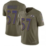 Wholesale Cheap Nike Ravens #57 C.J. Mosley Olive Men's Stitched NFL Limited 2017 Salute To Service Jersey