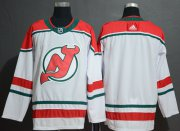 Wholesale Cheap Adidas Devils Blank White Alternate Authentic Stitched NHL Jersey
