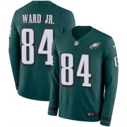 Wholesale Cheap Nike Eagles #84 Greg Ward Jr. Green Team Color Men's Stitched NFL Limited Therma Long Sleeve Jersey