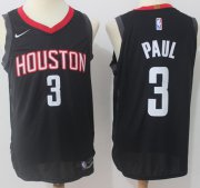 Wholesale Cheap Nike Houston Rockets #3 Chris Paul Black NBA Authentic Statement Edition Jersey