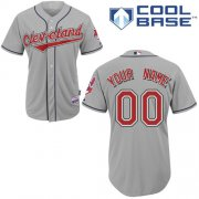Wholesale Cheap Indians Personalized Authentic Grey MLB Jersey (S-3XL)
