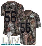Wholesale Cheap Nike 49ers #56 Kwon Alexander Camo Super Bowl LIV 2020 Men's Stitched NFL Limited Rush Realtree Jersey