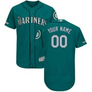 Wholesale Cheap Seattle Mariners Majestic Alternate Flex Base Authentic Collection Custom Jersey Green