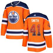 Wholesale Cheap Adidas Oilers #41 Mike Smith Orange Home Authentic Drift Fashion Stitched NHL Jersey