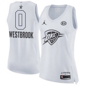 Wholesale Cheap Nike Oklahoma City Thunder #0 Russell Westbrook White Women\'s NBA Jordan Swingman 2018 All-Star Game Jersey