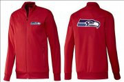 Wholesale Cheap NFL Seattle Seahawks Team Logo Jacket Red