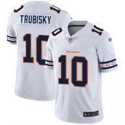 Wholesale Cheap Nike Bears #10 Mitchell Trubisky White Men's Stitched NFL Limited Team Logo Fashion Jersey