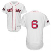 Wholesale Cheap Red Sox #6 Johnny Pesky White Flexbase Authentic Collection 2018 World Series Stitched MLB Jersey