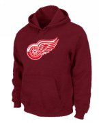 Wholesale Cheap NHL Detroit Red Wings Big & Tall Logo Pullover Hoodie Red