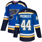 Wholesale Cheap Adidas Blues #44 Chris Pronger Blue Home Authentic Stitched NHL Jersey
