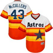 Wholesale Cheap Astros #43 Lance McCullers White/Orange Flexbase Authentic Collection Cooperstown Stitched MLB Jersey