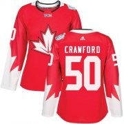 Wholesale Cheap Team Canada #50 Corey Crawford Red 2016 World Cup Women's Stitched NHL Jersey