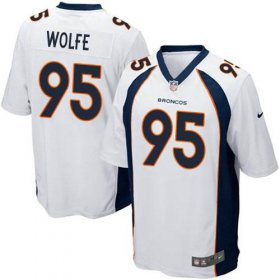 Wholesale Cheap Nike Broncos #95 Derek Wolfe White Youth Stitched NFL New Elite Jersey