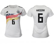 Wholesale Cheap Women's Germany #6 Khedira White Home Soccer Country Jersey