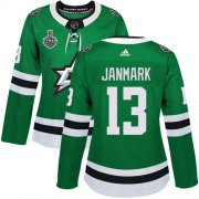 Cheap Adidas Stars #13 Mattias Janmark Green Home Authentic Women's 2020 Stanley Cup Final Stitched NHL Jersey