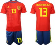 Wholesale Cheap Spain #13 Arrizabalaga Home Soccer Country Jersey