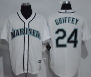 Wholesale Cheap Mariners #24 Ken Griffey White New Cool Base Stitched MLB Jersey