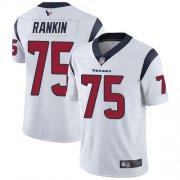 Wholesale Cheap Nike Texans #75 Martinas Rankin White Men's Stitched NFL Vapor Untouchable Limited Jersey