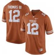 Wholesale Cheap Men's Texas Longhorns 12 Earl Thomas III Orange Nike College Jersey
