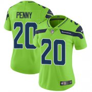 Wholesale Cheap Nike Seahawks #20 Rashaad Penny Green Women's Stitched NFL Limited Rush Jersey