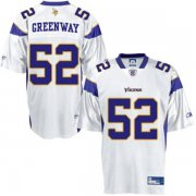 Wholesale Cheap Vikings #52 Chad Greenway White Stitched NFL Jersey