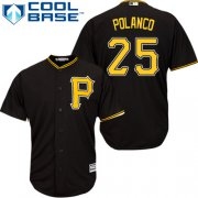 Wholesale Cheap Pirates #25 Gregory Polanco Black Cool Base Stitched Youth MLB Jersey