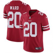 Wholesale Cheap Nike 49ers #20 Jimmie Ward Red Team Color Men's Stitched NFL Vapor Untouchable Limited Jersey