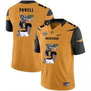 Wholesale Cheap Missouri Tigers 5 Taylor Powell Gold Nike Fashion College Football Jersey