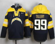 Wholesale Cheap Nike Chargers #99 Jerry Tillery Navy Blue Player Pullover Hoodie