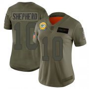Wholesale Cheap Nike Packers #10 Darrius Shepherd Camo Women's Stitched NFL Limited 2019 Salute To Service Jersey
