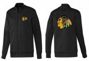 Wholesale NHL Chicago Blackhawks Zip Jackets Black-1