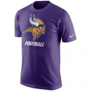 Wholesale Cheap Minnesota Vikings Nike Facility T-Shirt Purple