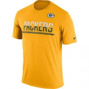 Wholesale Cheap Men's Green Bay Packers Nike Practice Legend Performance T-Shirt Yellow