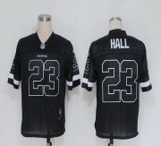 Wholesale Cheap Redskins #23 DeAngelo Hall Black Shadow Stitched NFL Jersey